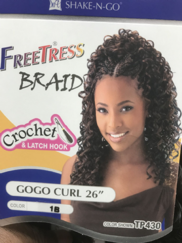 FREETRESS  BRAID CROCHET AND LATCH HOOK GOGO CURL 26""